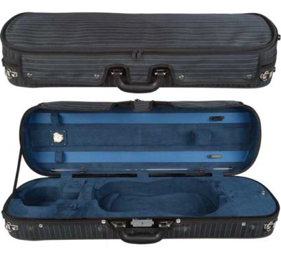 Core Navy Pinstripe Violin Case