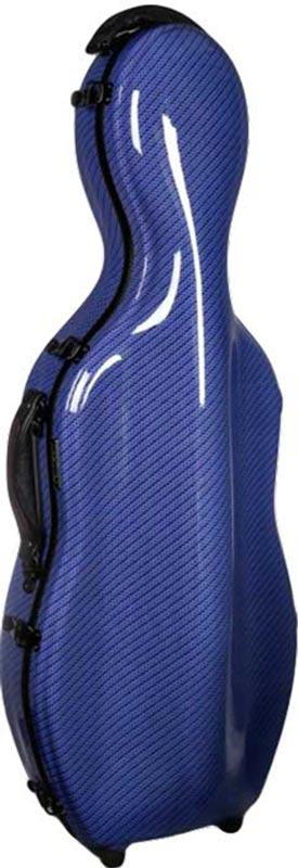 tonarelli cello shaped viola case blue checkered