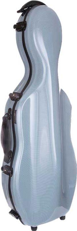 tonarelli cello shaped viola case silver