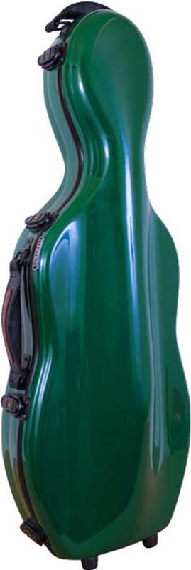 tonarelli cello shaped viola case green