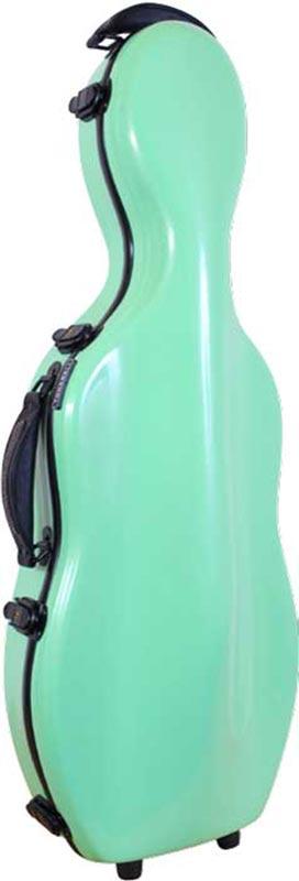 tonarelli cello shaped viola case lime