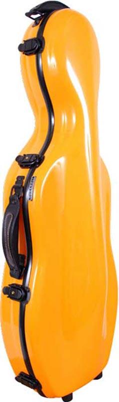 tonarelli cello shaped viola case orange