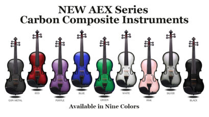 Glasser AEX Carbon Composite Acoustic Electric 5 String Viola