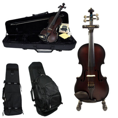 Glasser Carbon Composite Acoustic 5 String Violin Outfit
