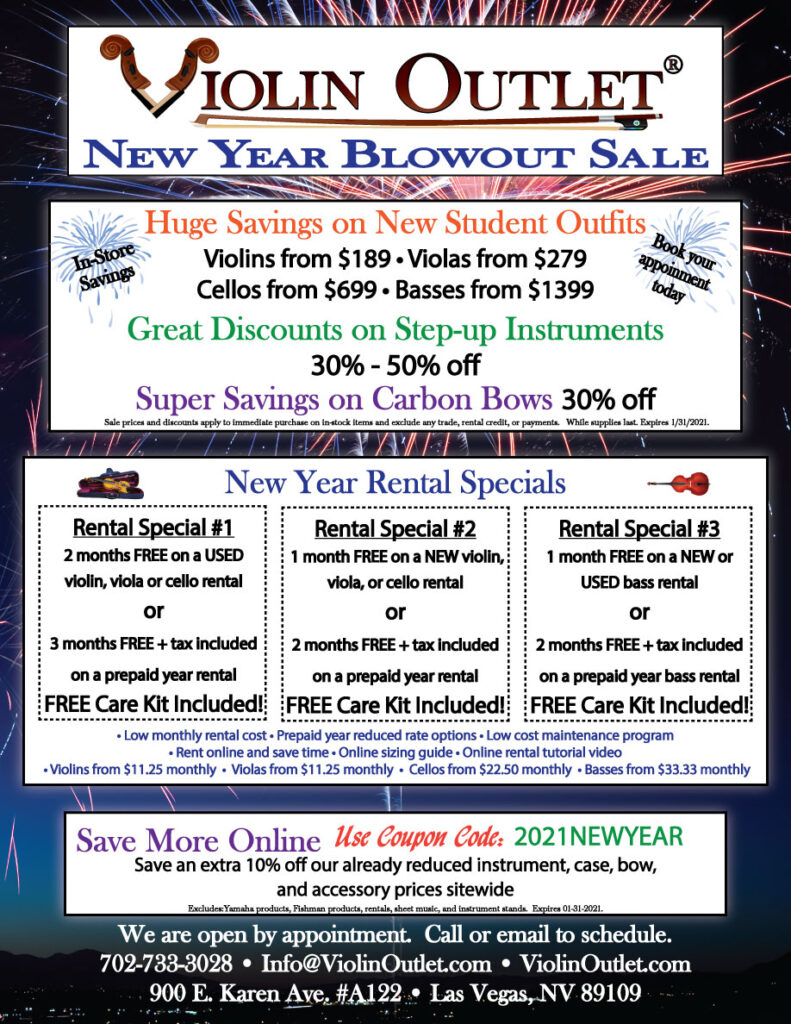Violin Outlet's New Year Blowout Sale