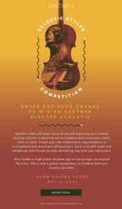 Eastman Eclectic Styles Competition 2021