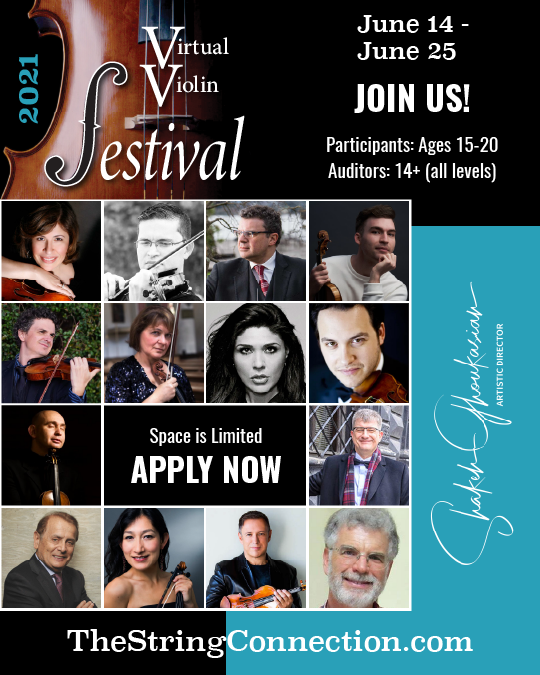 Virtual Violin Festival with an All-Star Faculty Accepting Applications